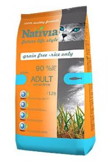 Nativia Cat Adult Salmon&Rice Active 1,5kg