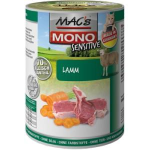 Konz. MACs Cat MONO Sensitive JEHNĚ a mrkev 400 g