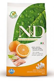 N&D GF DOG Adult Fish & Orange 800g