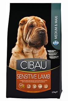 CIBAU Dog Adult Sensitive Lamb&Rice 12kg + 2kg zdarma