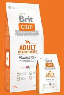 Brit Care Dog Adult Medium Breed Lamb & Rice 12kg + barel zdarma