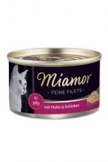 Miamor Cat Filet konzerva kuře+šunka v želé 100g
