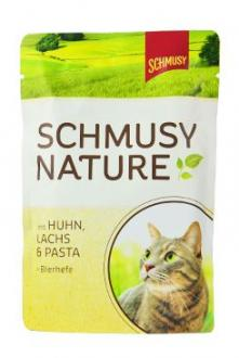 Schmusy Cat Nature Menu kapsa kuře+losos 100g