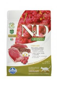 N&D GF Quinoa CAT Urinary Duck & Cranberry 300g