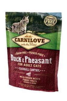 Carnilove Cat Duck&Pheasant Adult Hairball Contr 400g