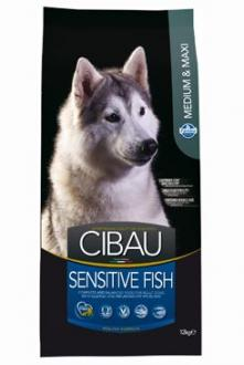 CIBAU Dog Adult Sensitive Fish&Rice 12kg + 2kg zdarma