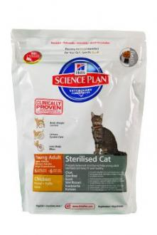 Hill´s Feline Dry Adult Young Sterilized Chicken 300g
