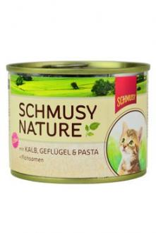 Schmusy Cat Nature Menu konz. Junior telec+drůbež 190g