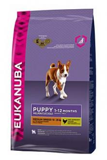 Eukanuba Dog Puppy&Junior Medium 15kg