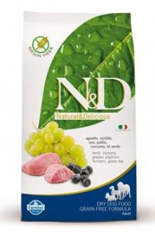 N&D GF DOG Adult Lamb & Blueberry 800g