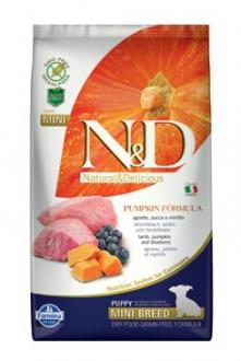 N&D GF Pumpkin DOG Puppy Mini Lamb & Blueberry 2,5kg