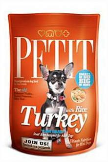 Petit Dry Adult Turkey with Rice Low Grain 1,5kg