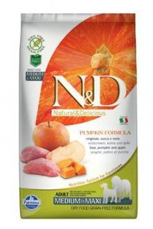 N&D GF Pumpkin DOG Adult M/L Boar & Apple 2,5kg