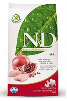 N&D GF DOG Adult Mini Chicken&Pomegranat 2,5kg