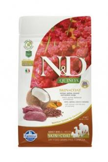 N&D GF Quinoa DOG Skin&Coat Venison & Coconut 800g