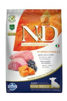 N&D GF Pumpkin DOG Puppy Mini Lamb & Blueberry 7kg