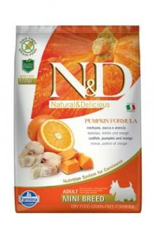 N&D GF Pumpkin DOG Adult Mini Codfish & Orange 7kg