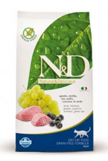 N&D GF CAT Adult Lamb & Blueberry 300g
