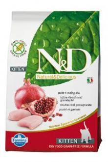 N&D GF CAT KITTEN Chicken & Pomegranate 300g